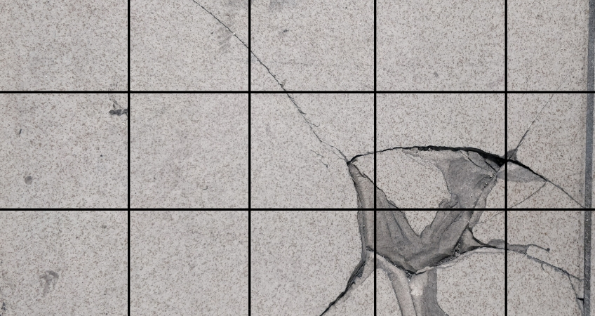 Repair cracked tiles