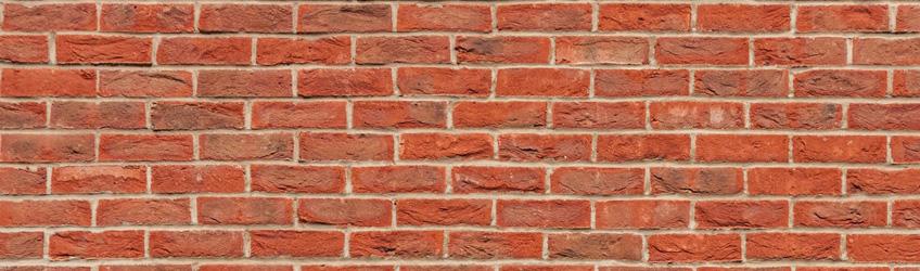 Brick external wall cladding