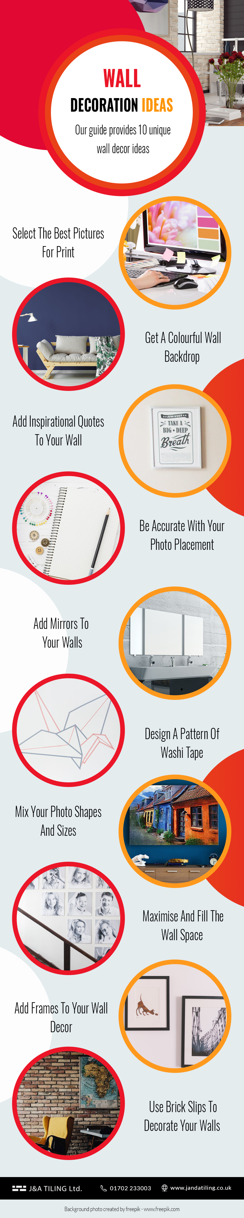 wall decor ideas infographic